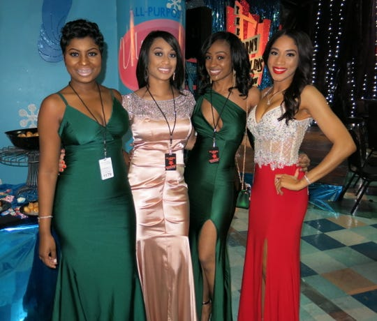 Alaetra Combs (right) at the Dec. 8, 2018, Christmas in the Sky celebration with Shanerika Flemings, Shanequa Lewis and Noli Bradberry. Combs attended the event with Shreveport's mayor-elect, Adrian Perkins, but would not be photographed with him.