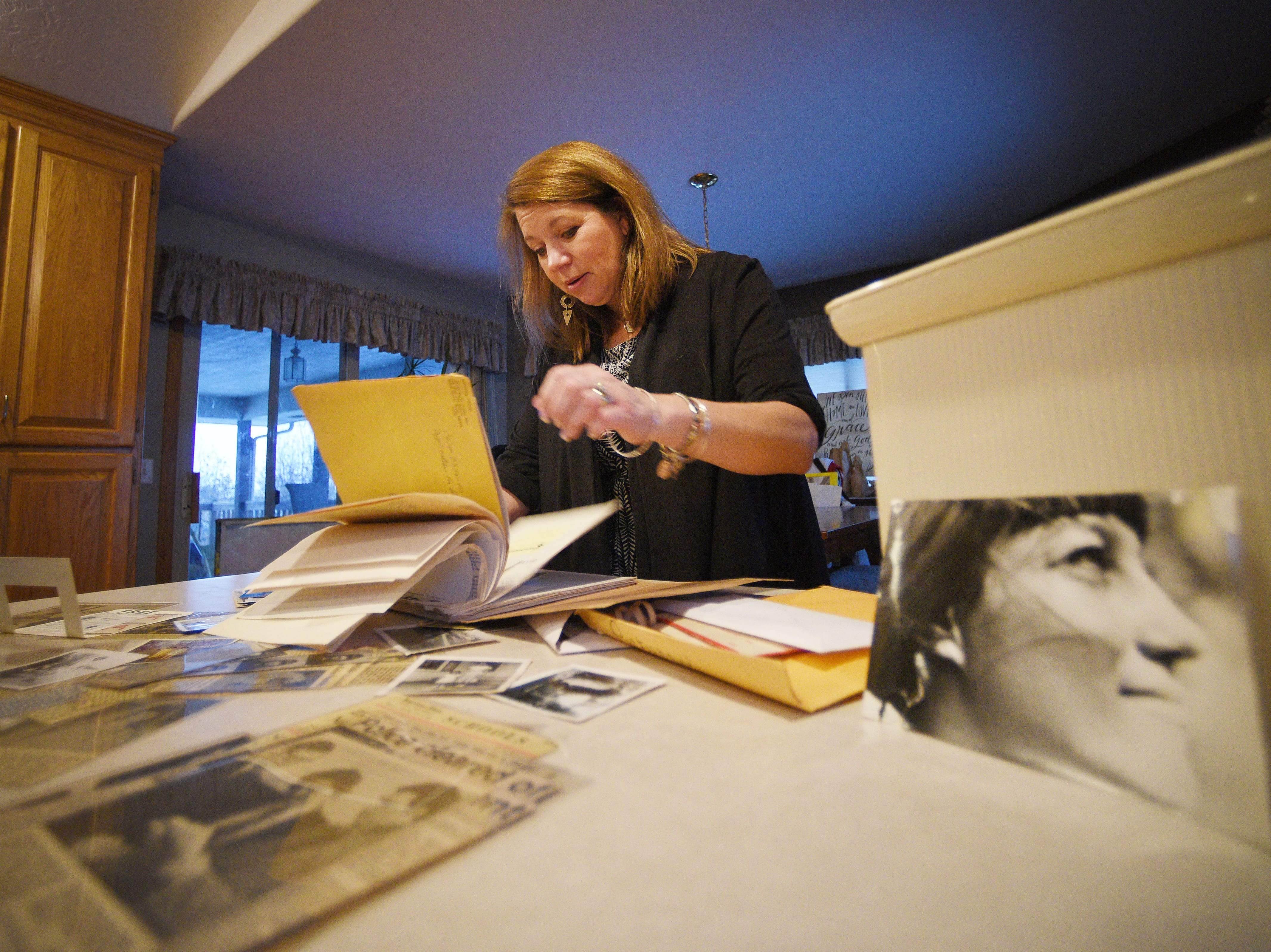 Elizabeth Crow, Ellabeth Lodermeier's niece, talks about her brief memories of her aunt Friday, Dec. 6, at her home in Sioux Falls. Crow was 7 years old when Ellabeth disappeared in 1974. Elizabeth's mom, Sandra Herman, never stopped trying to get answers to her sister's disappearance.