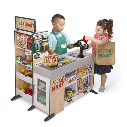 Melissa and Doug Wooden Fresh Mart Grocery Store