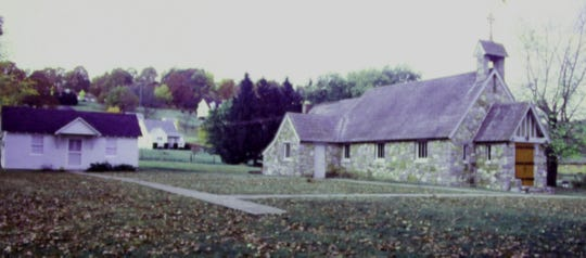 The parish house and the church about 15 years ago.