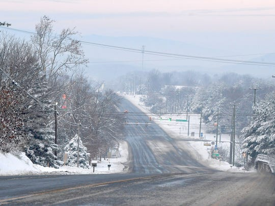 View of U.S. 250 in Fishersville looking towards Staunton on Monday, Dec. 10, 2018.