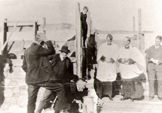 The cornerstone laying ceremony for Good Shepherd was held on March 30, 1924 and was attended by several hundred people.