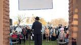 St. George community celebrates Hanukkah at town square