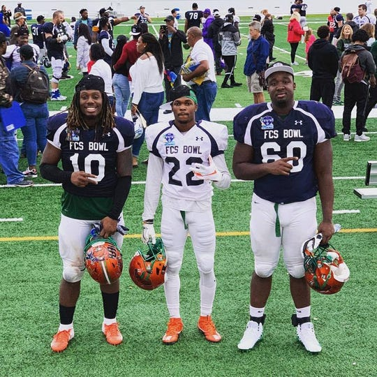 FAMU linebacker Jibreel Hazly, defensive back Orlando McKinely and offensive lineman Loubens Polinice competed in the FCS National Bowl in Daytona Beach.  The game was played in front of NFL and AAF scouts.