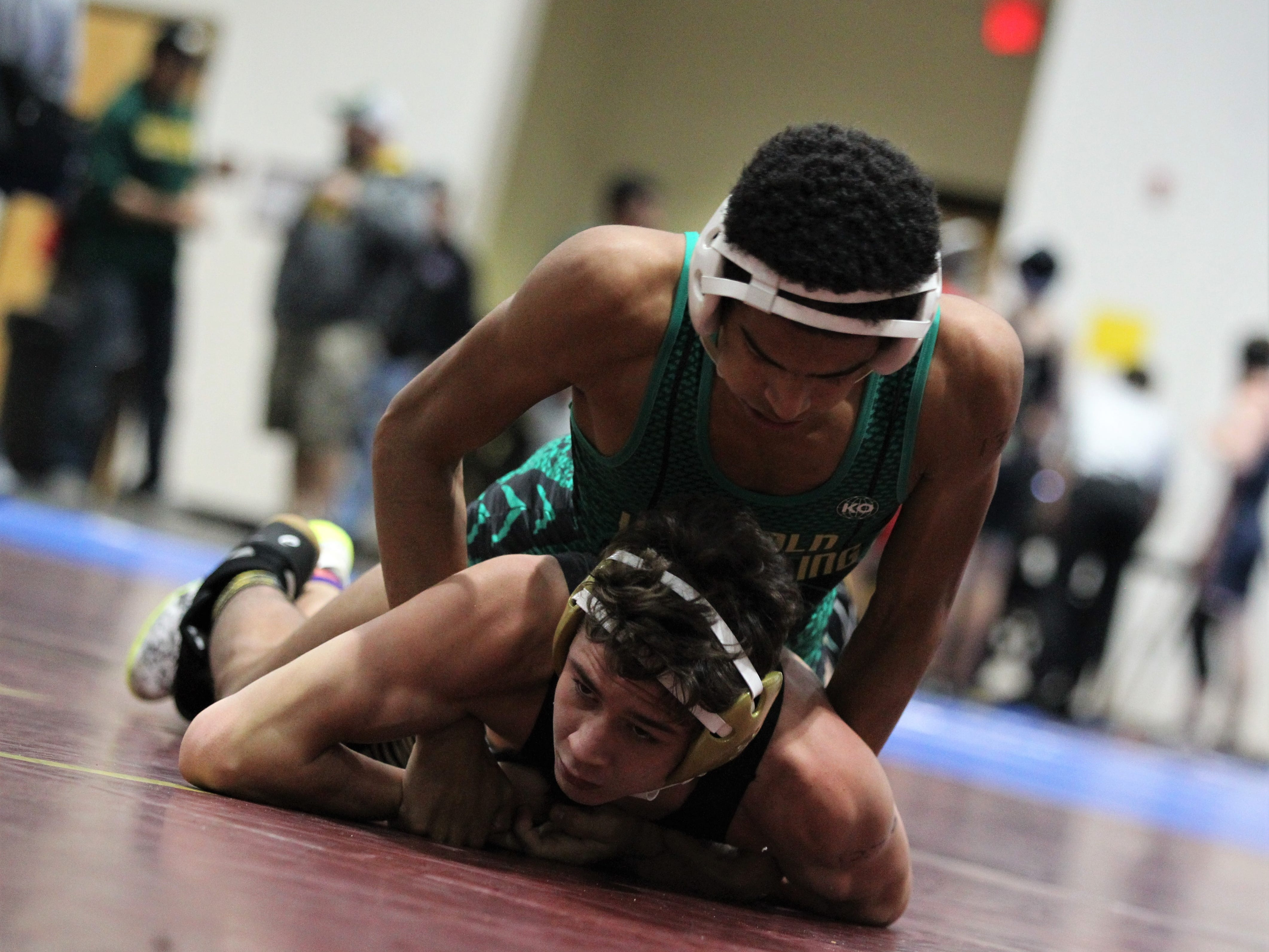 Lincoln's Jace White wrestles at the Cam Brown Seminole Classic wrestling tournament at Florida High on Dec. 7-8, 2018.