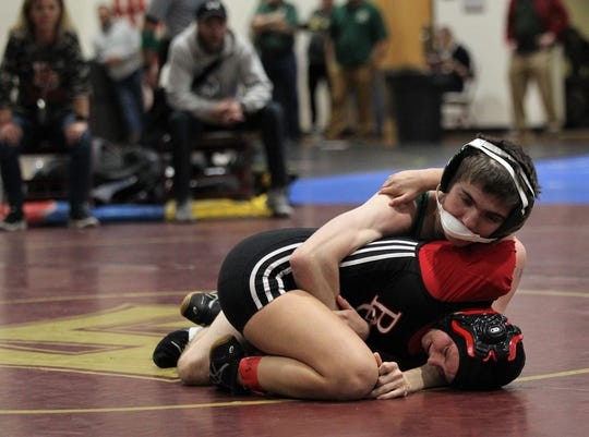 Lincoln's Mark Munroe wrestles in the Cam Brown Seminole Classic wrestling tournament at Florida High on Dec. 7-8, 2018.
