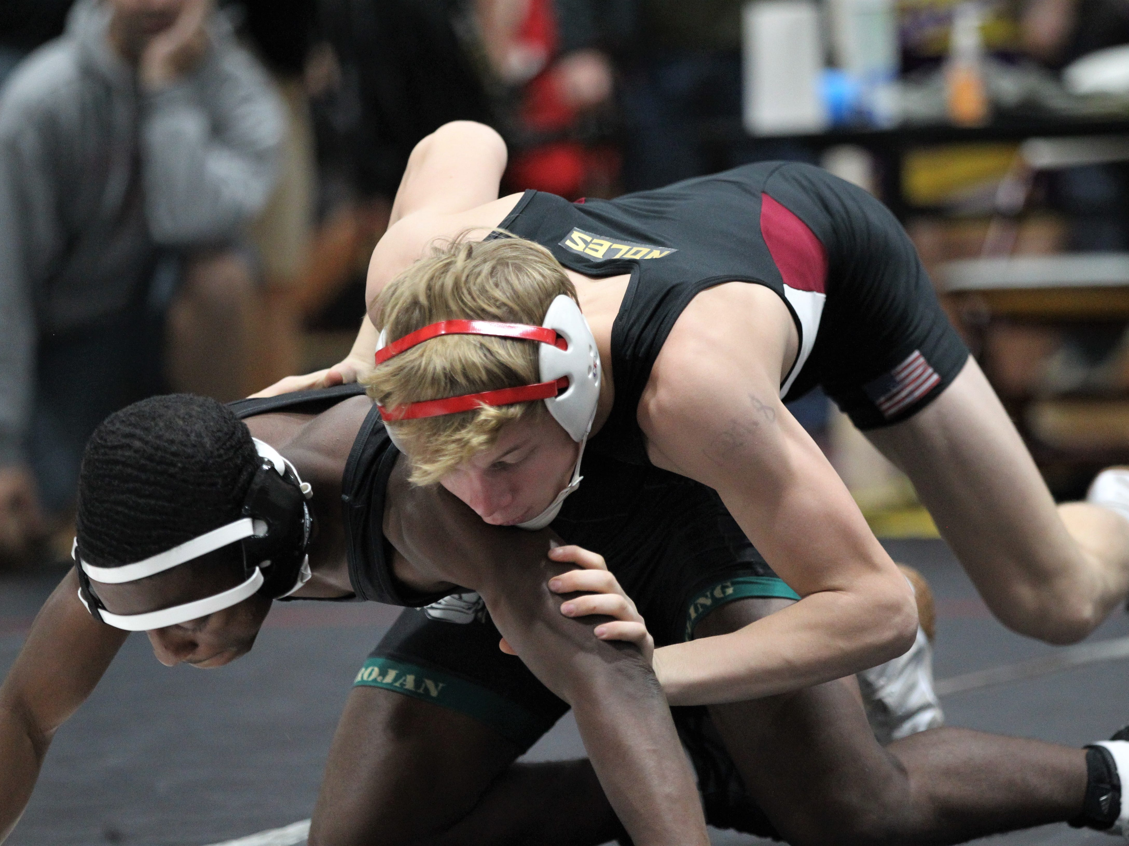 Florida High's Brooks Dyer wrestles at the Cam Brown Seminole Classic wrestling tournament at Florida High on Dec. 7-8, 2018.