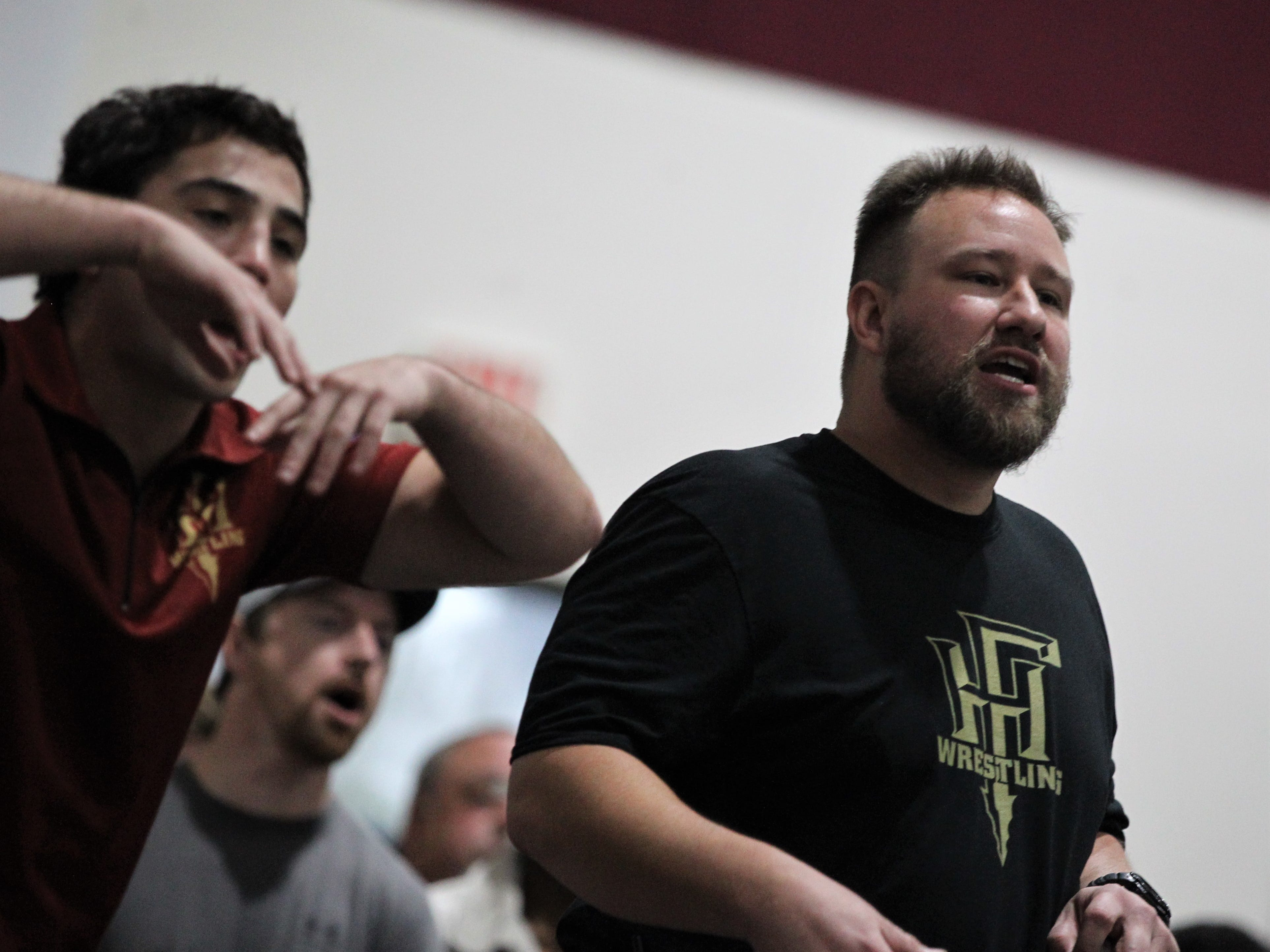 Florida High coach Clay Allen at the Cam Brown Seminole Classic wrestling tournament at Florida High on Dec. 7-8, 2018.