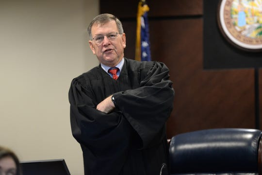 Leon County Circuit Judge James Hankinson presides over  jury selection for Denise Williams' trial on charges of first degree murder, conspiracy to commit murder and accessory after the fact of her first husband Mike Williams at the Leon County Courthouse Monday, Dec. 10, 2018.