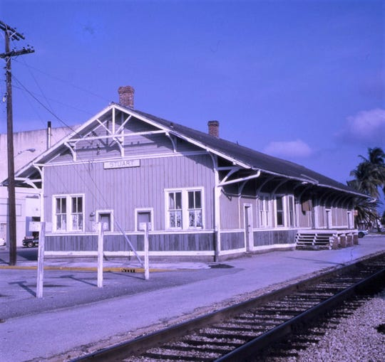 The Stuart Train Depot in the 1960s.