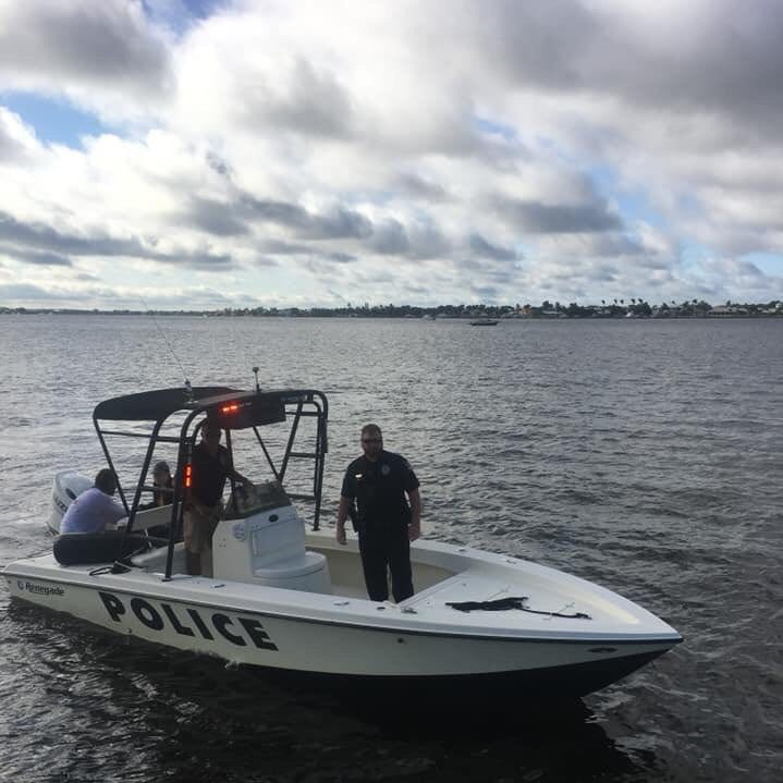 Young couple saved by Stuart police after boat hits wake, flips, tosses them into river
