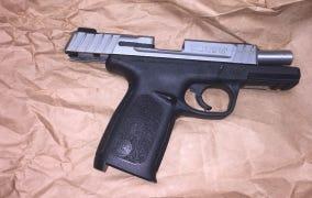 A handgun was taken by Oxnard police after a traffic stop Sunday night.