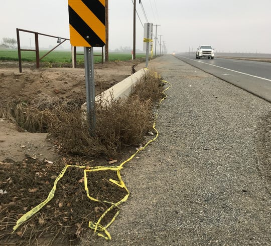 Crime tape is all that is left behind at the scene of an officer-involved shooting in Tulare.