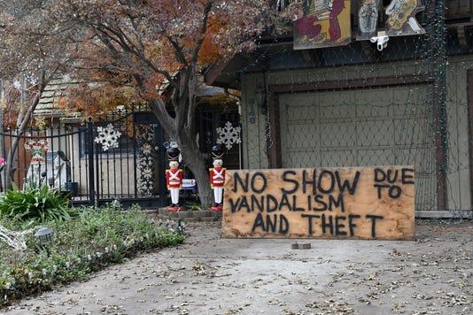 Vandals Destroy Visalia Neighborhood Holiday Decorations