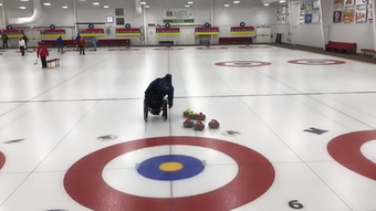 "Matt Thums of Team USA has only been a curler since  2012. A simple formula has gotten him to the World Wheelchair Championship: ""Eat. Sleep. Curl."""