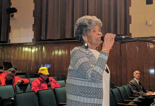 New Rochelle resident Pearl Quarles provided input on what she wanted to see in a new superintendent of schools at a Dec. 4 New Rochelle Board of Education meeting.