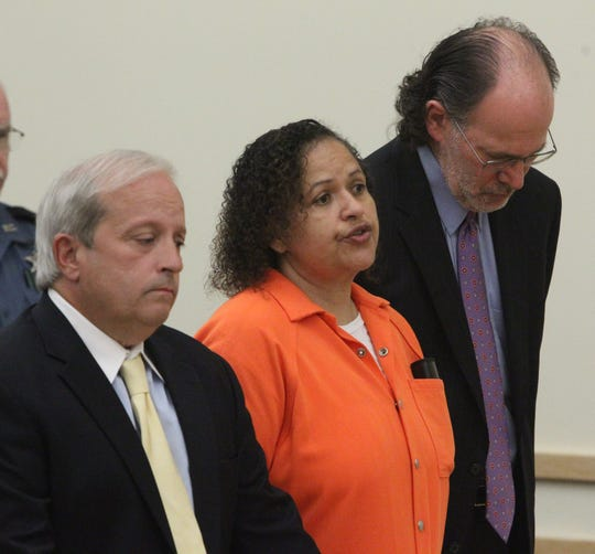 Diana Nadell speaks before she was sentenced in the murder of her mother-in-law, Peggy Nadell, at the Rockland County Courthouse in New City May 12, 2015.