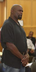 Former New York Giants football player Lawrence Taylor reacts to an order of protection barring him from having contact with the sixteen-year old girl he is accused of raping. Taylor was arraigned in Ramapo Town Court May 6, 2010. The Hall of Fame linebacker is charged with raping a sixteen-year old girl at the Holiday Inn in Montebello. He was released on $75,000 bail.