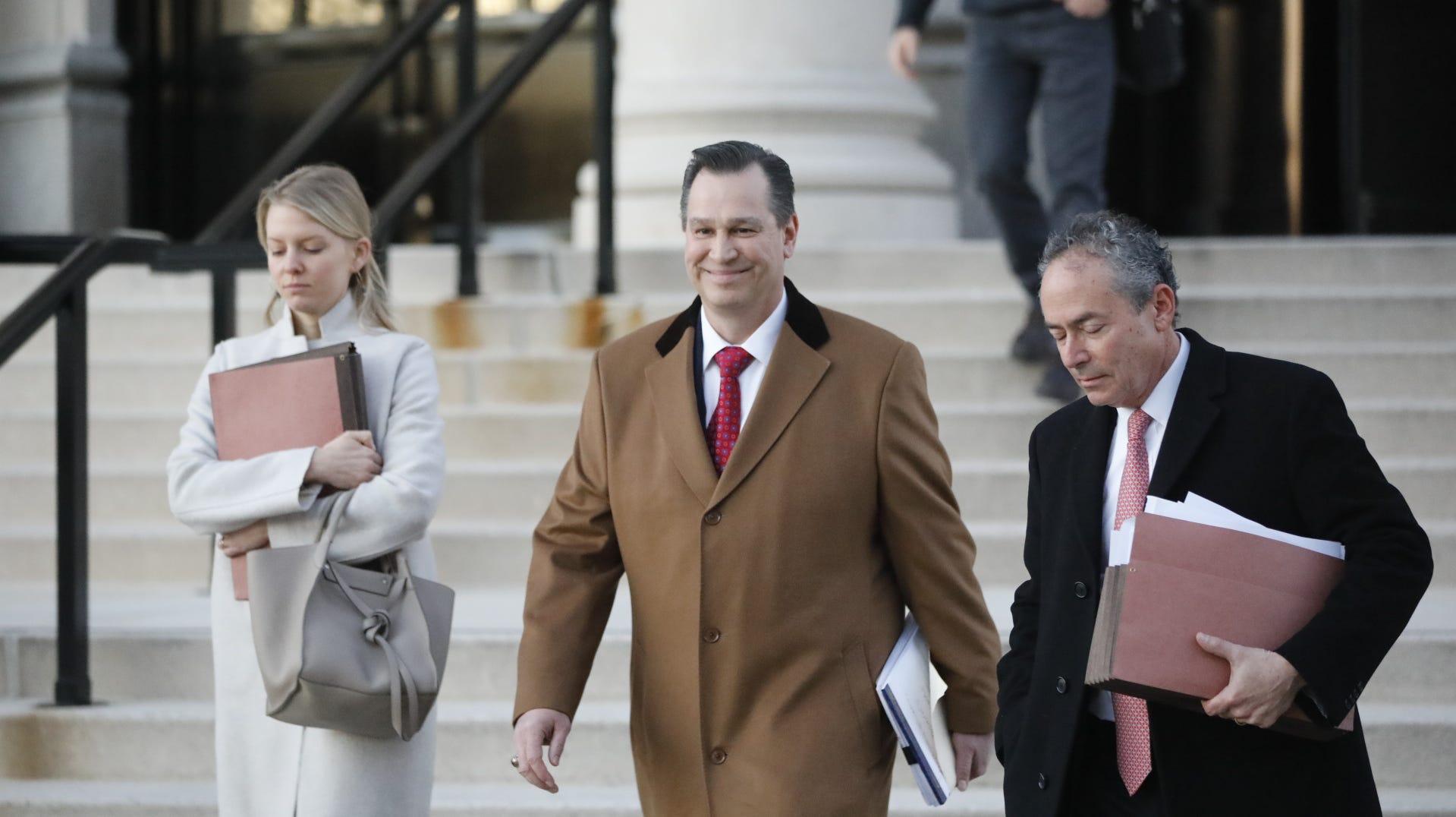 Richard Brega leaves the White Plains Federal...