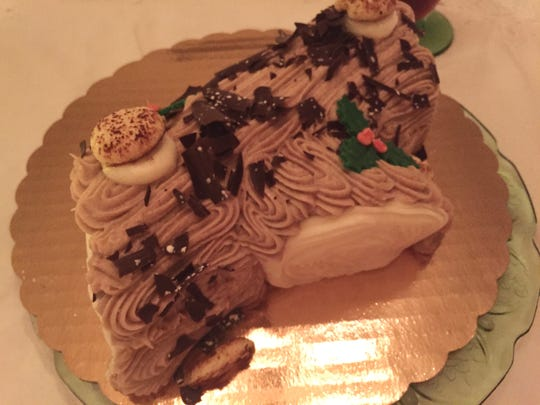 You can get a Buche de Noel, or Yule Log, at Bing's Bakery in Newark. It's $27.95 and comes in vanilla and chocolate flavors.