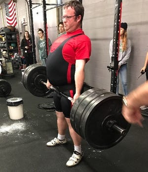 Sean McGrath of Wichita Falls Special Olympics won gold in the squat, bench, deadlift plus overall gold at the Special Olympics powerlifting meet last month in Bedford, Texas. There were seven teams and 47 athletes entered.
