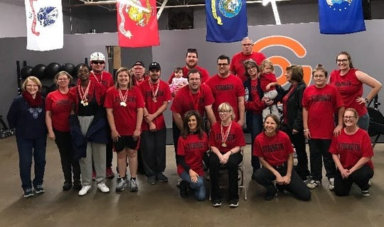 The 2018 Wichita Falls Special Olympics Power Lifting team which competed in the Dallas-Fort Worth area meet in Bedford, Texas, November 17.