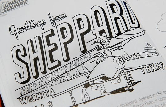 Sheppard Air Force Base and its relation to Wichita Falls is one of 23 pages of local history found in the Color Something Big coloring book created by Nicholas Schreiber.