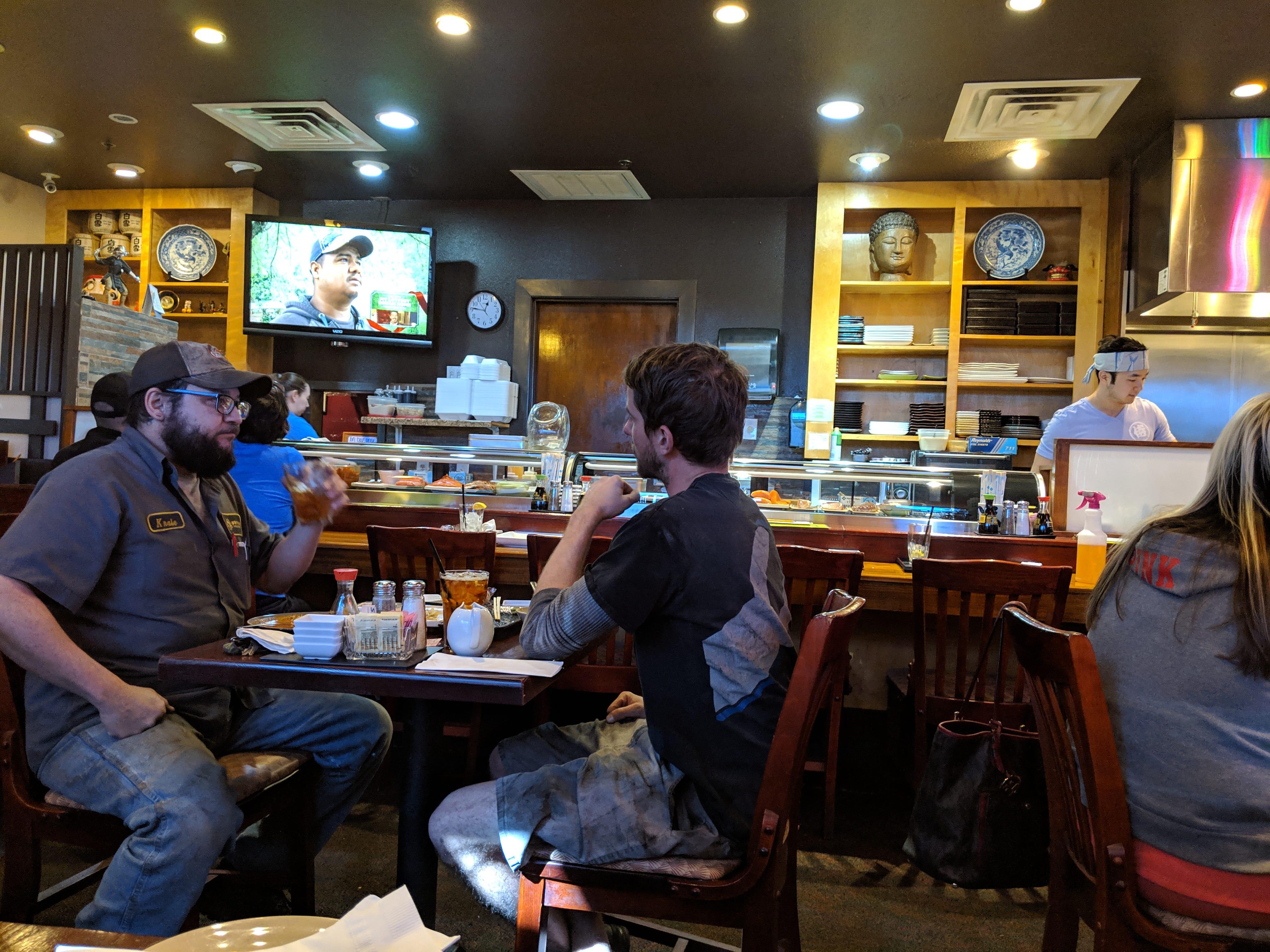 Inside Samurai of Tokyo.
