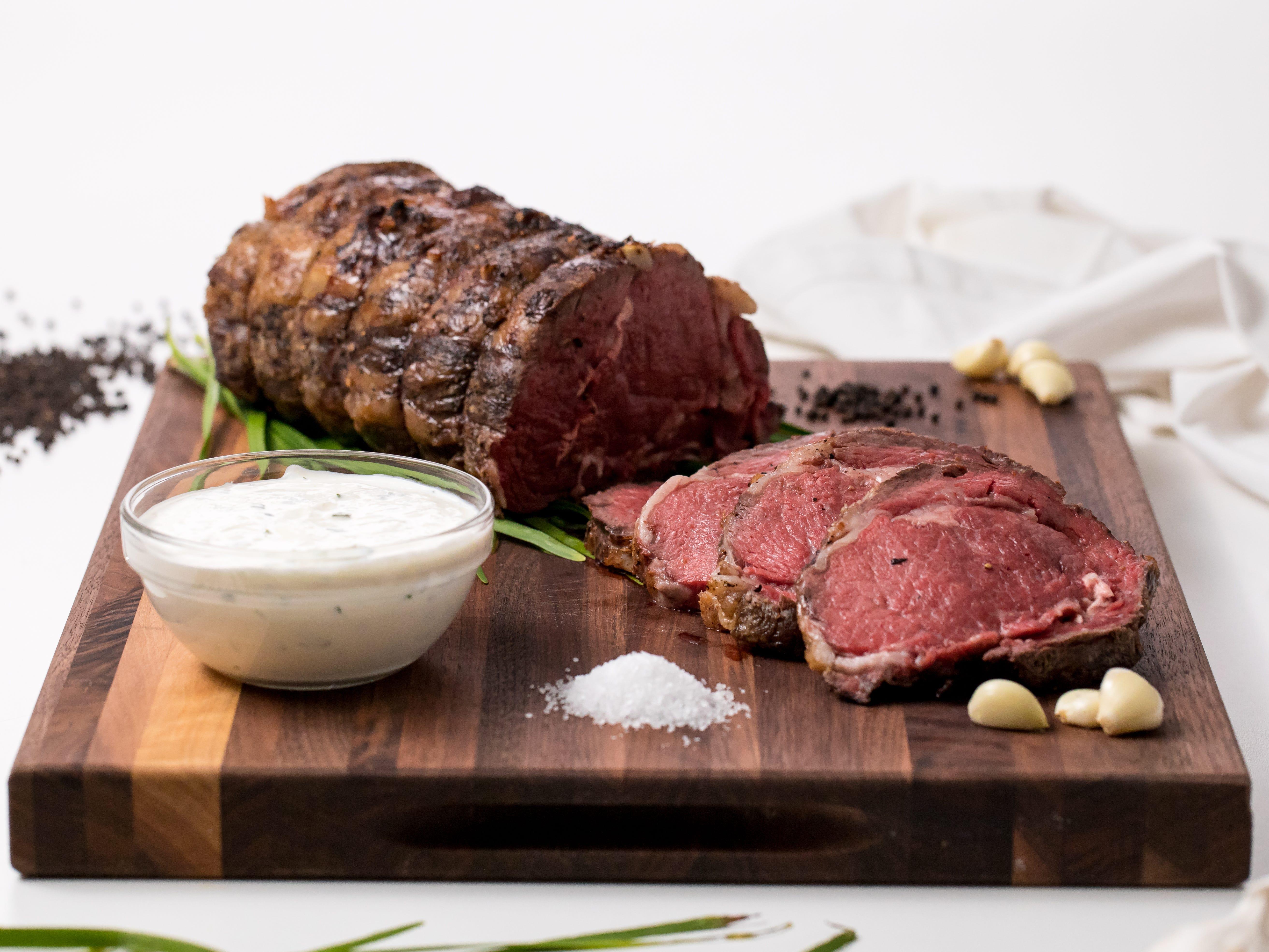 Classic prime rib roast
