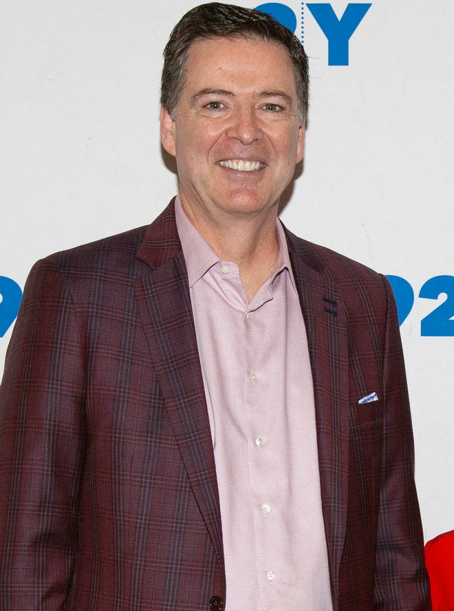 Former FBI Director James Comey poses backstage before his conversation with Nicolle Wallace at the 92nd Street Y on Dec. 9, 2018, in New York.