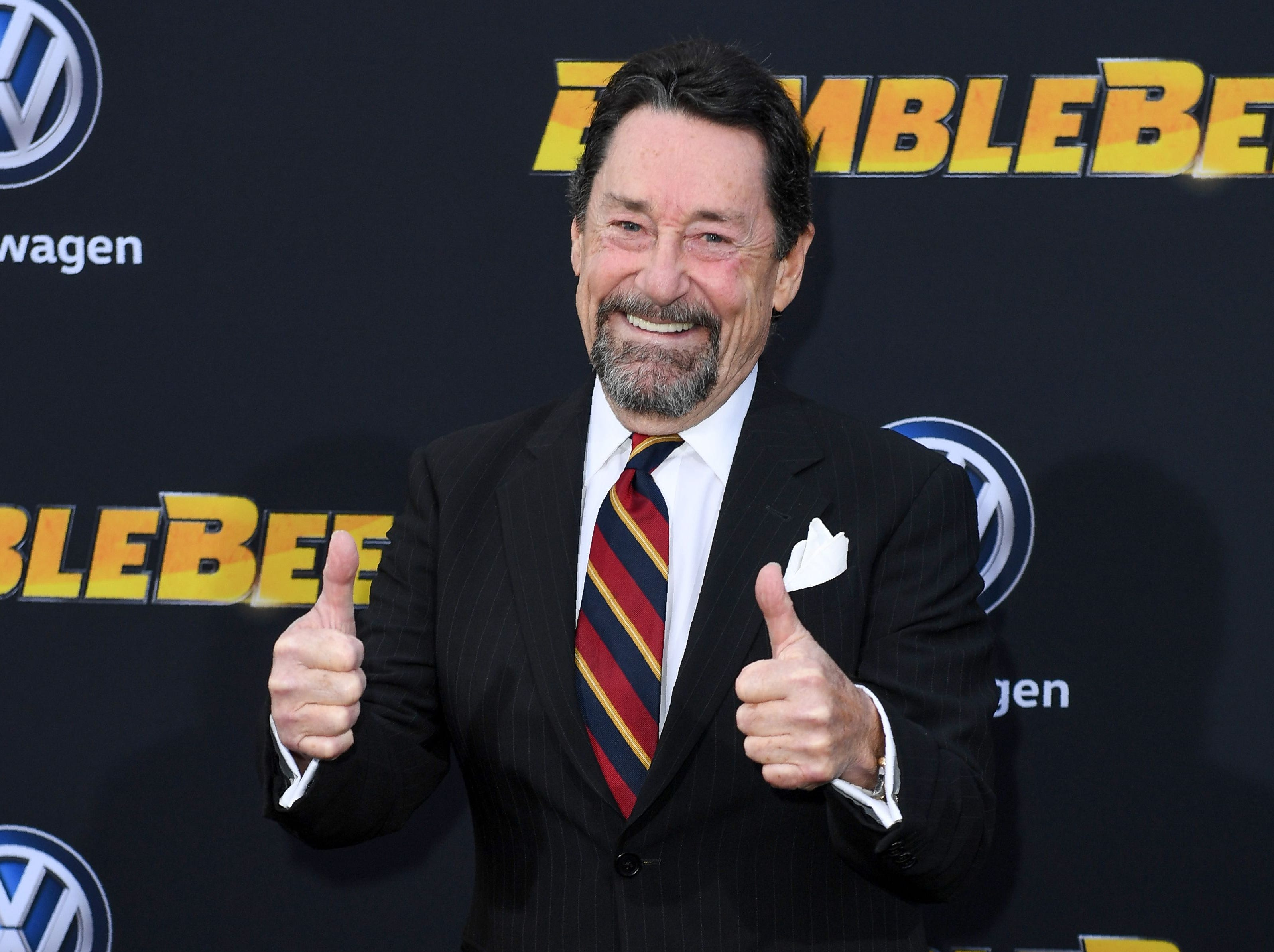 "Canadian actor Peter Cullen attends the global premiere of ""Bumblebee"" at the TCL Chinese theatre in Hollywood on December 9, 2018. (Photo by VALERIE MACON / AFP)VALERIE MACON/AFP/Getty Images ORG XMIT: Premiere ORIG FILE ID: AFP_1BH0QF"