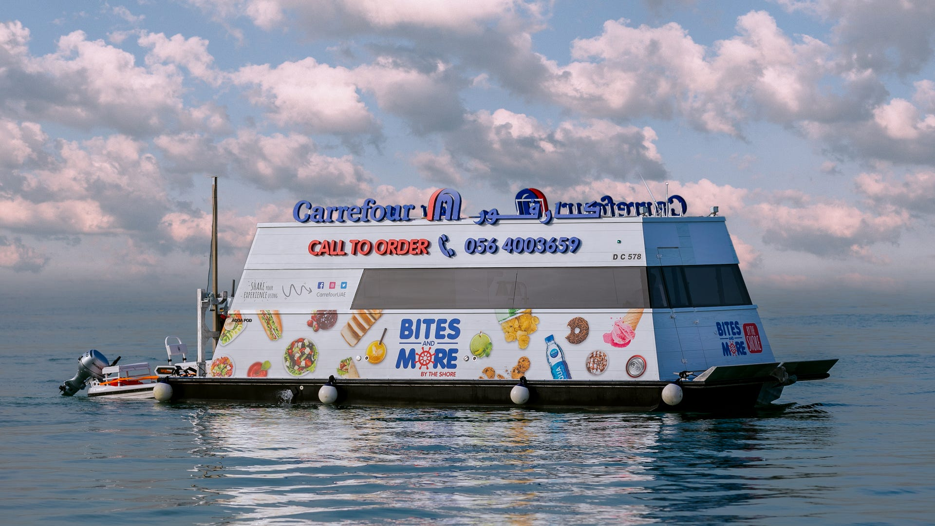 New supermarket on water is accessible to jet skis and yachts