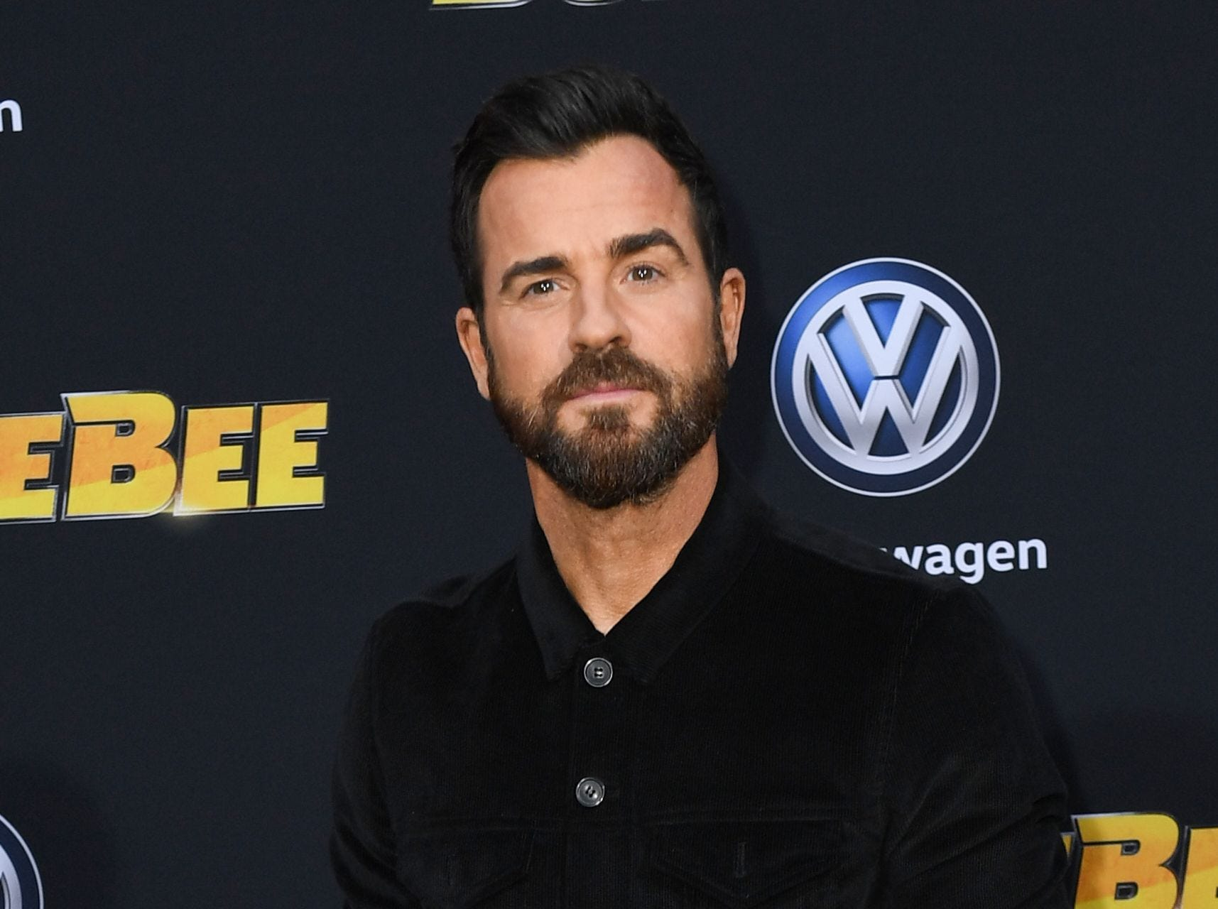 "US actor Justin Theroux attends the global premiere of ""Bumblebee"" at the TCL Chinese theatre in Hollywood on December 9, 2018. (Photo by VALERIE MACON / AFP)VALERIE MACON/AFP/Getty Images ORG XMIT: Premiere ORIG FILE ID: AFP_1BH0R2"