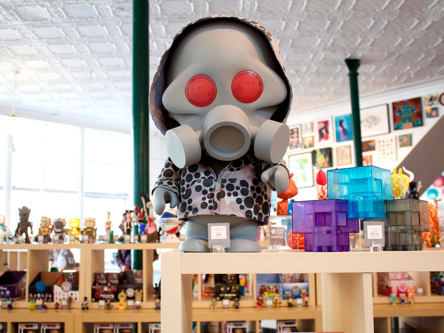 Toys show their arty side at Rotofugi, a Chicago shop specializing in stylish playthings and pop-culture collectibles.