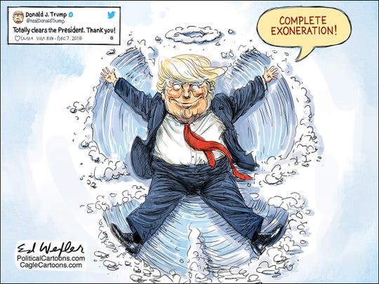 Snow angel Trump