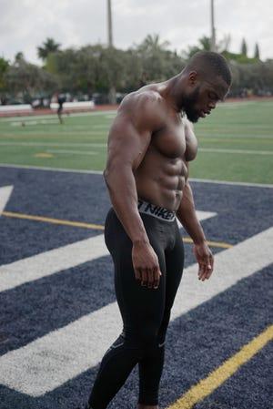 Trainer Osamoje Imoohi helps people get in shape.