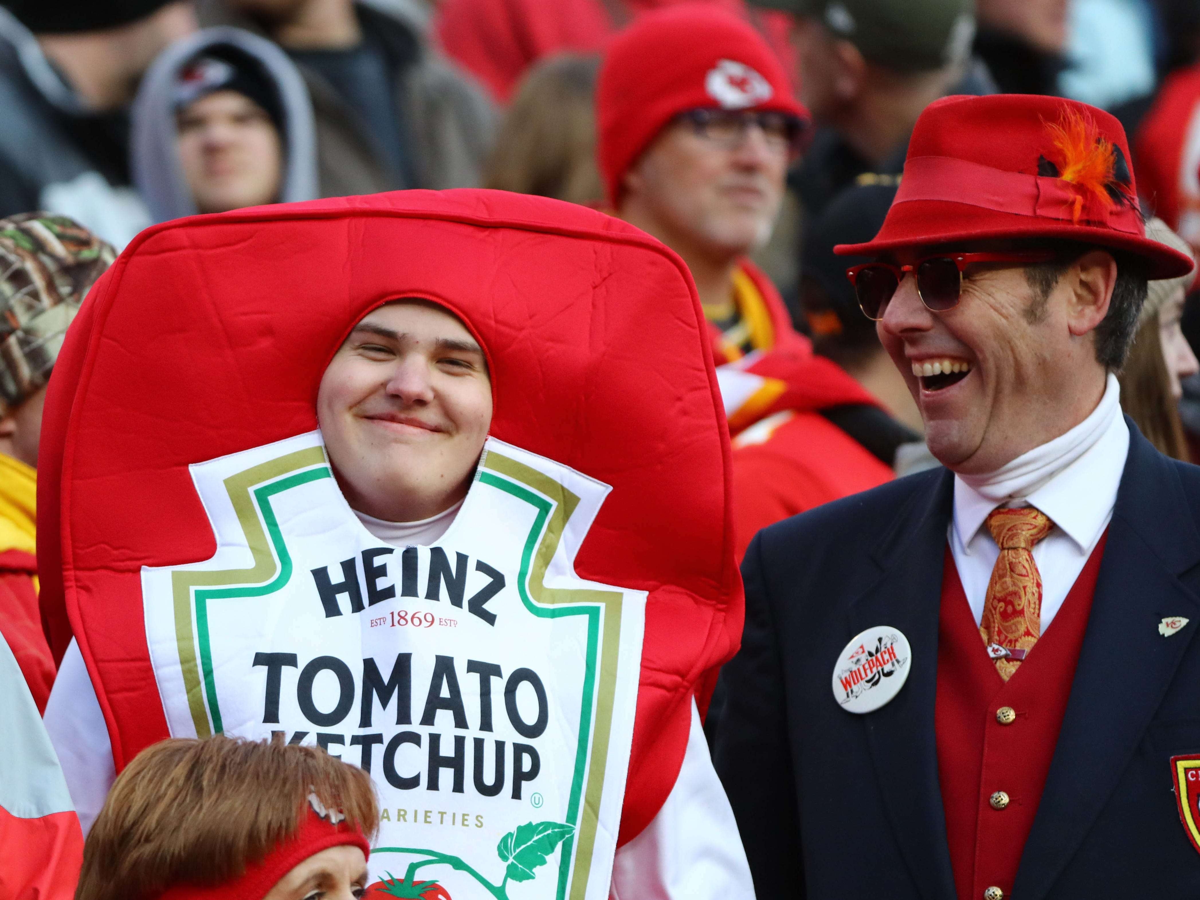 Kansas City Chiefs fans during the second half against the Baltimore Ravens at Arrowhead Stadium.