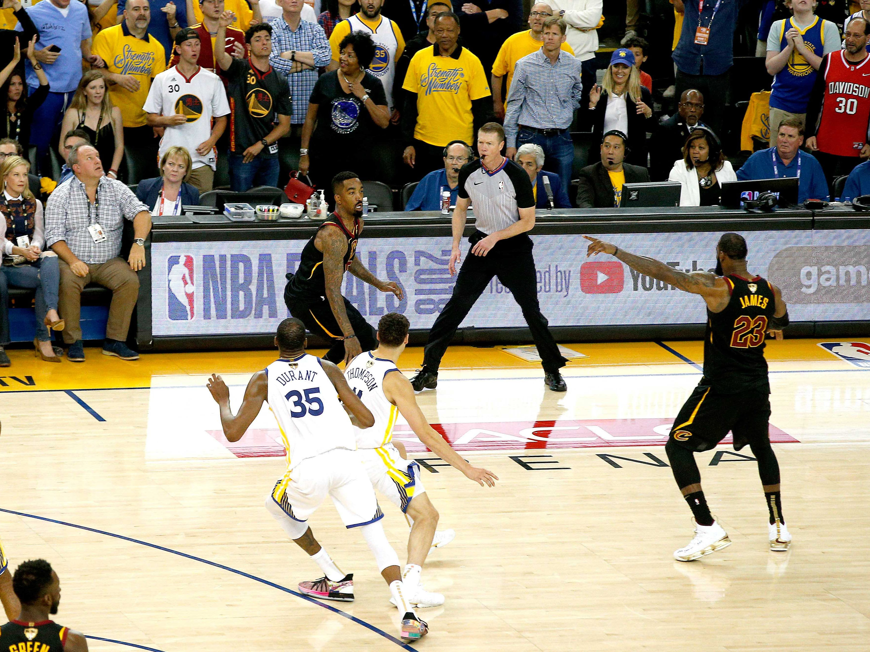 May 31: Cleveland Cavaliers guard JR Smith commits his now-infamous gaffe late in Game 1 of the NBA Finals against the Golden State Warriors.