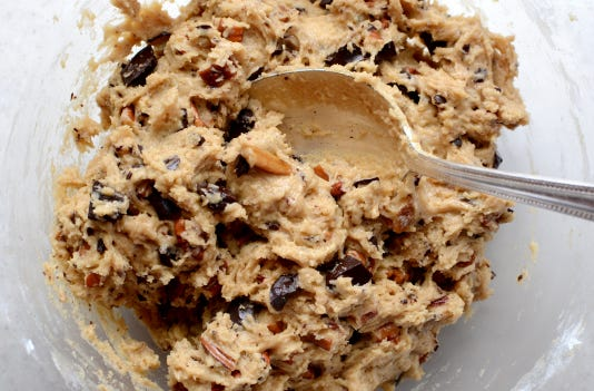 Raw Cookie Dough Mixed