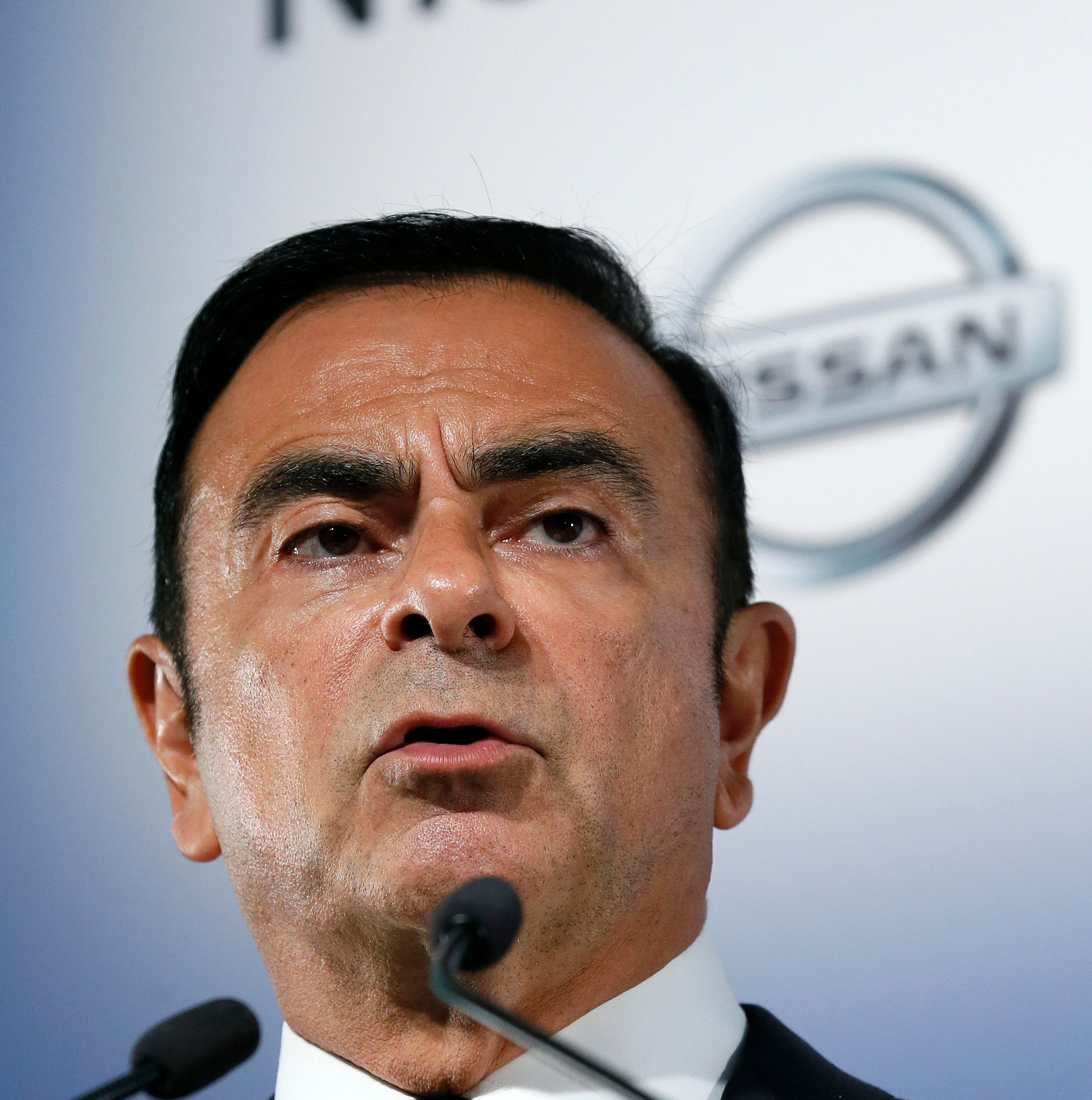 Nissan Motor's chairman Carlos Ghosn speaks at a press conference in Yokohama, south of Tokyo, Japan, 12 May 2014 (reissued 10 December 2018).