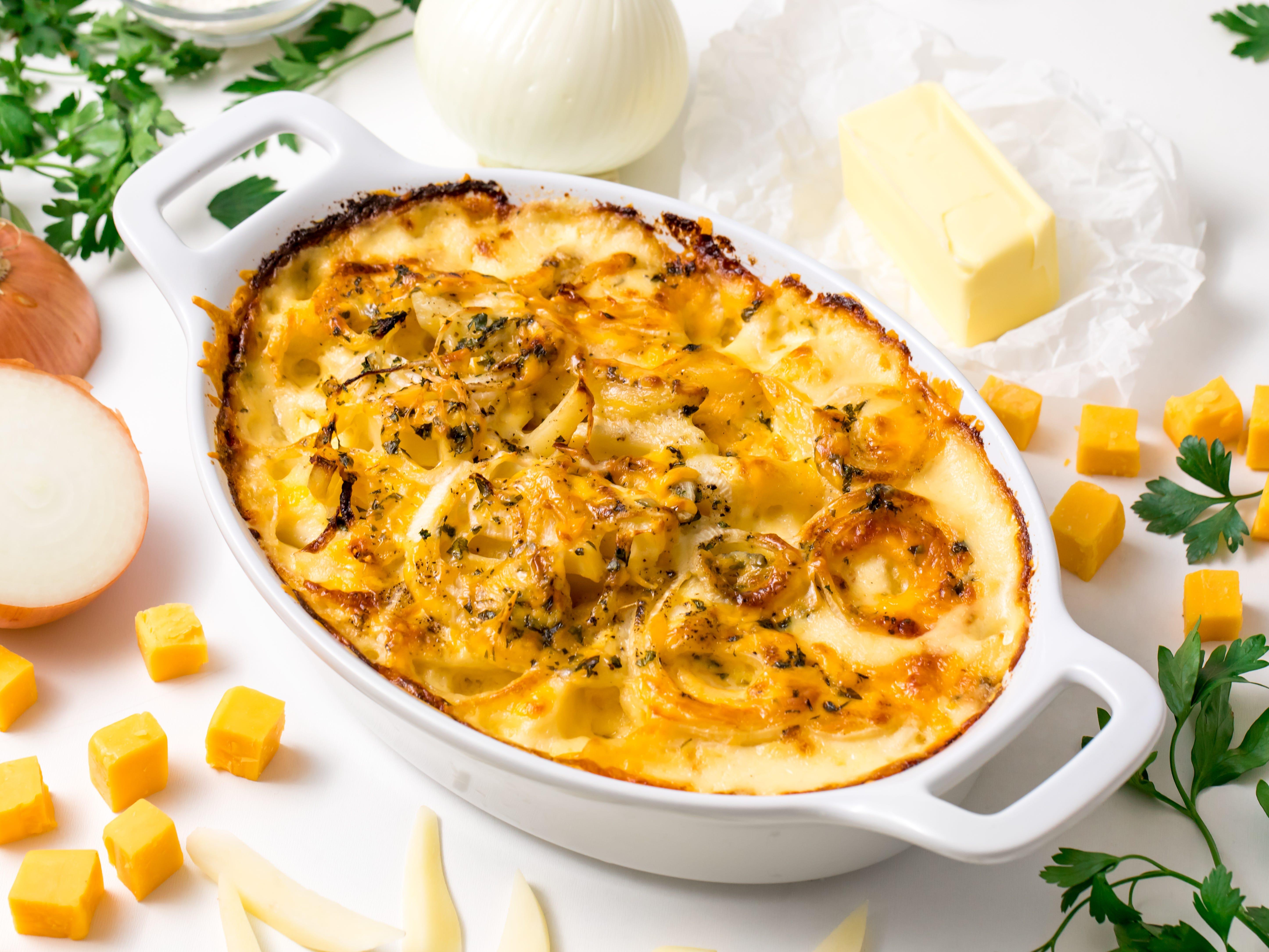 cheesy holiday potatoes