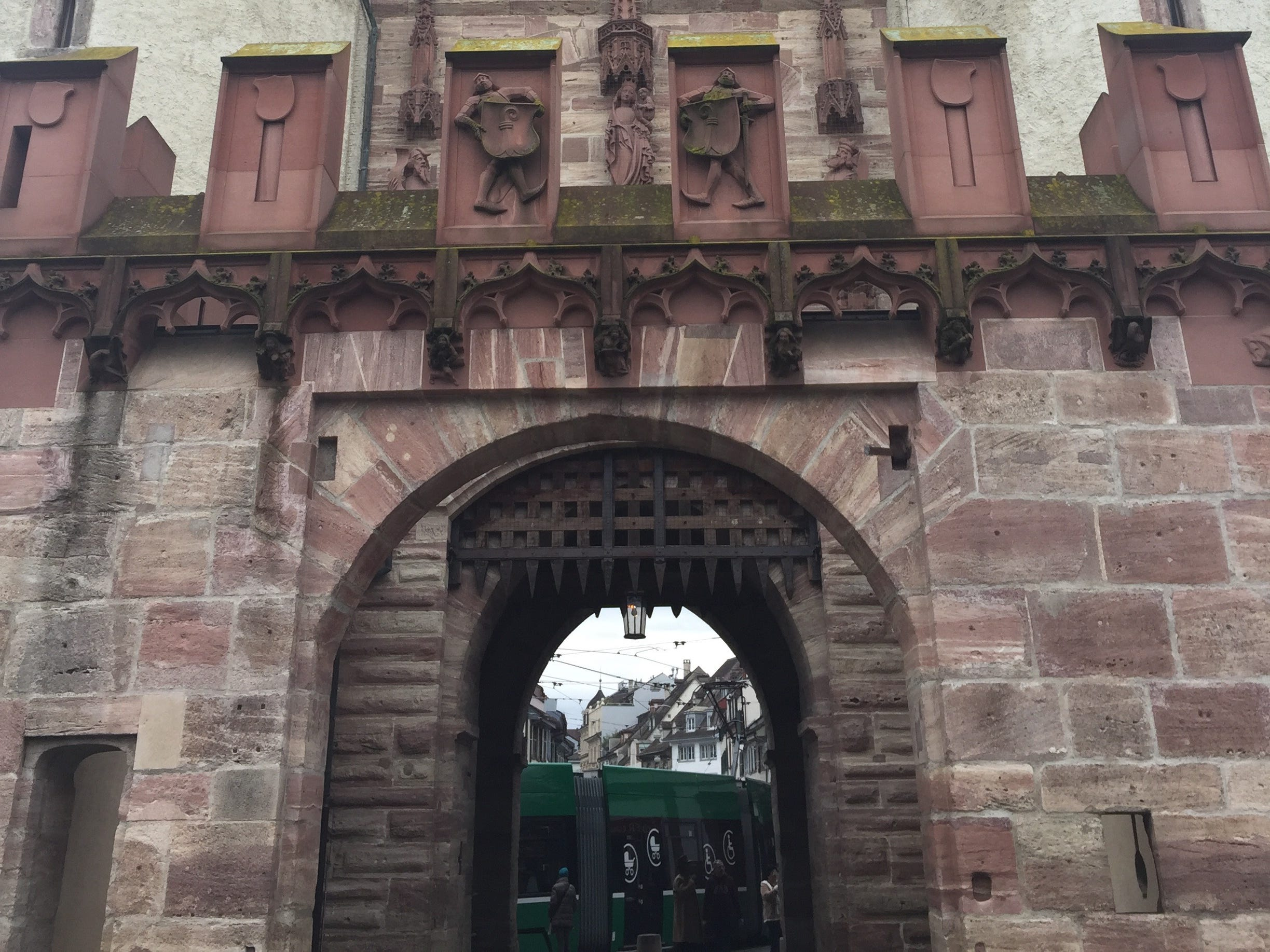 The 600-year-old Spalentor is a fortified city gate that used to serve as a merchandise supply route into the city.