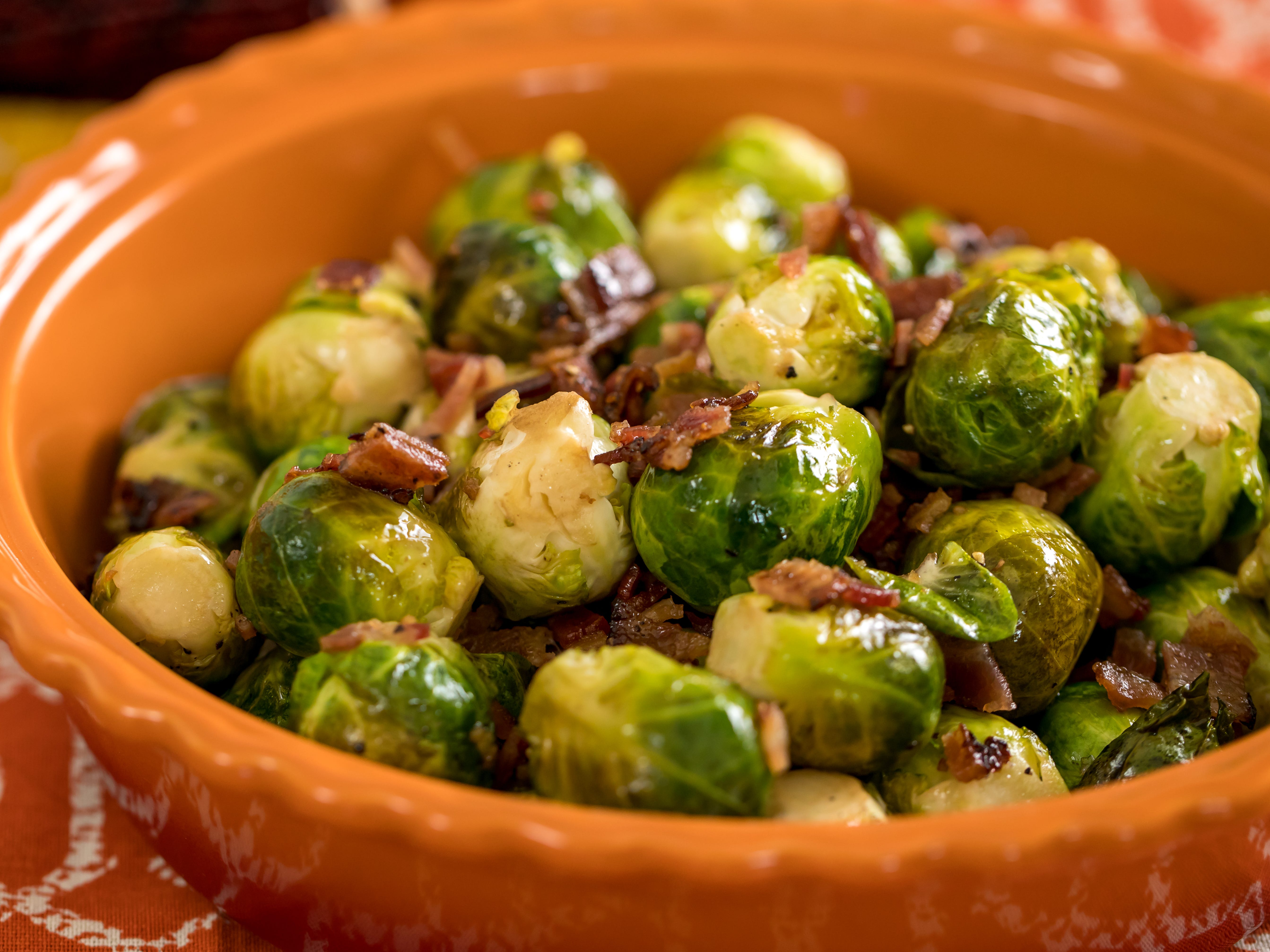 Maple Balsamic Bacon Brussels Sprouts
