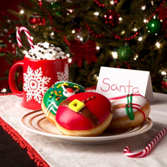 Krispy Kreme even has an Ugly Sweater Doughnut this holiday season.