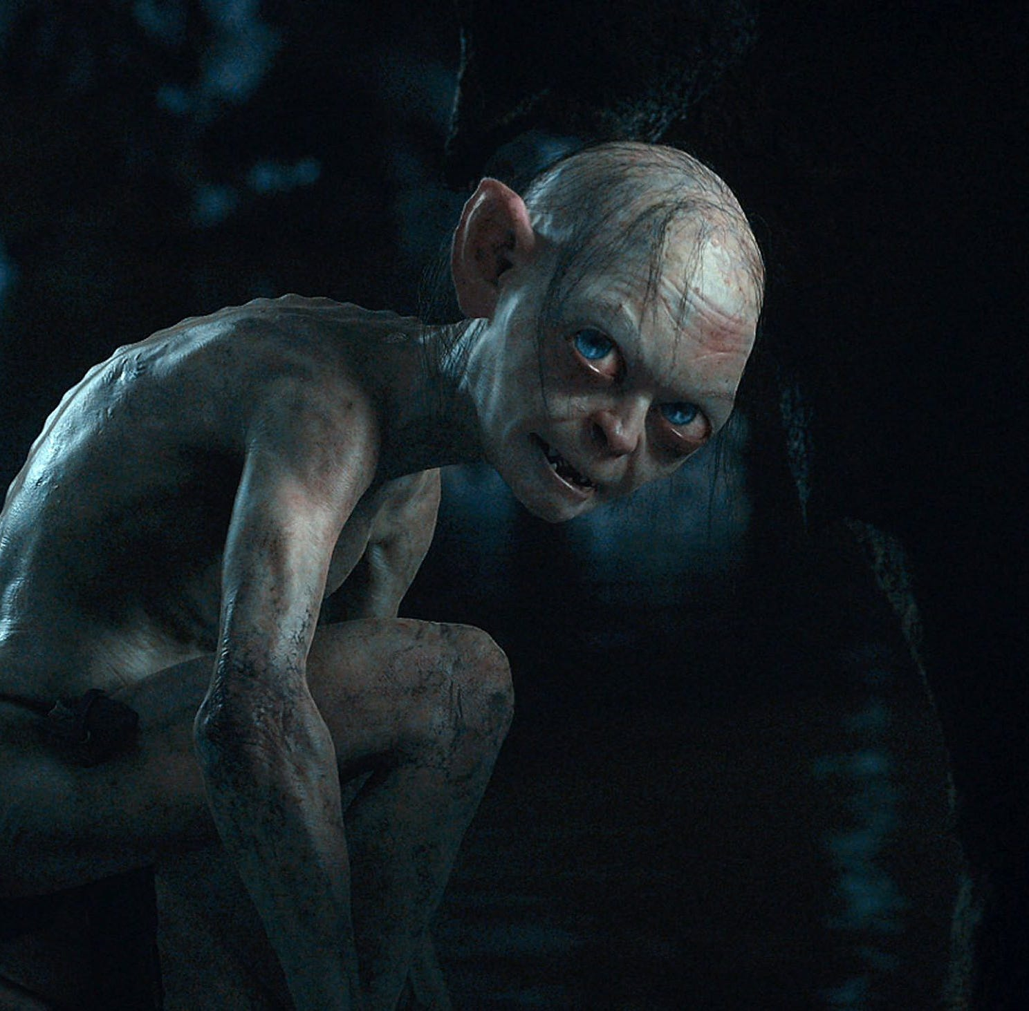 Andy Serkis got low as Gollum in 'The Hobbit: An Unexpected Journey.'