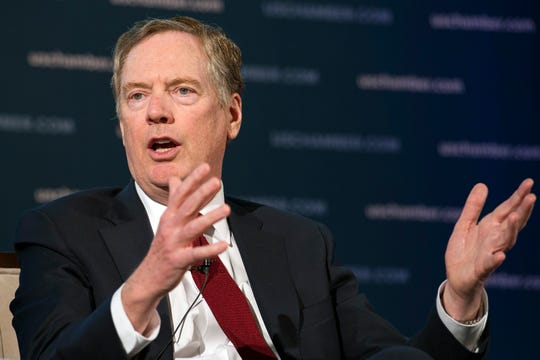 U.S. Trade Representative Robert Lighthizer speaks at the 9th China Business Conference at the U.S. Chamber of Commerce in Washington, D.C., on May 1, 2018.