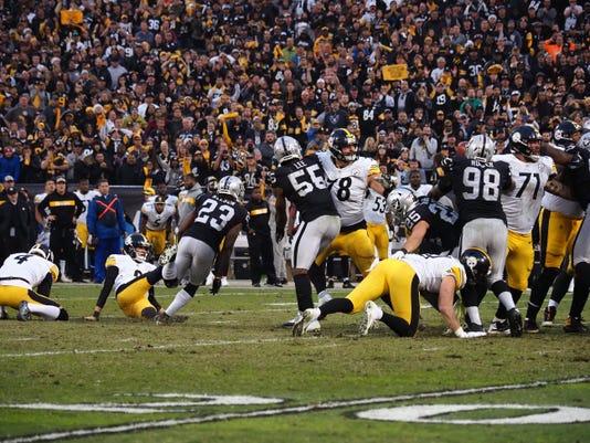 Usp Nfl Pittsburgh Steelers At Oakland Raiders S Fbn Oak Pit Usa Ca