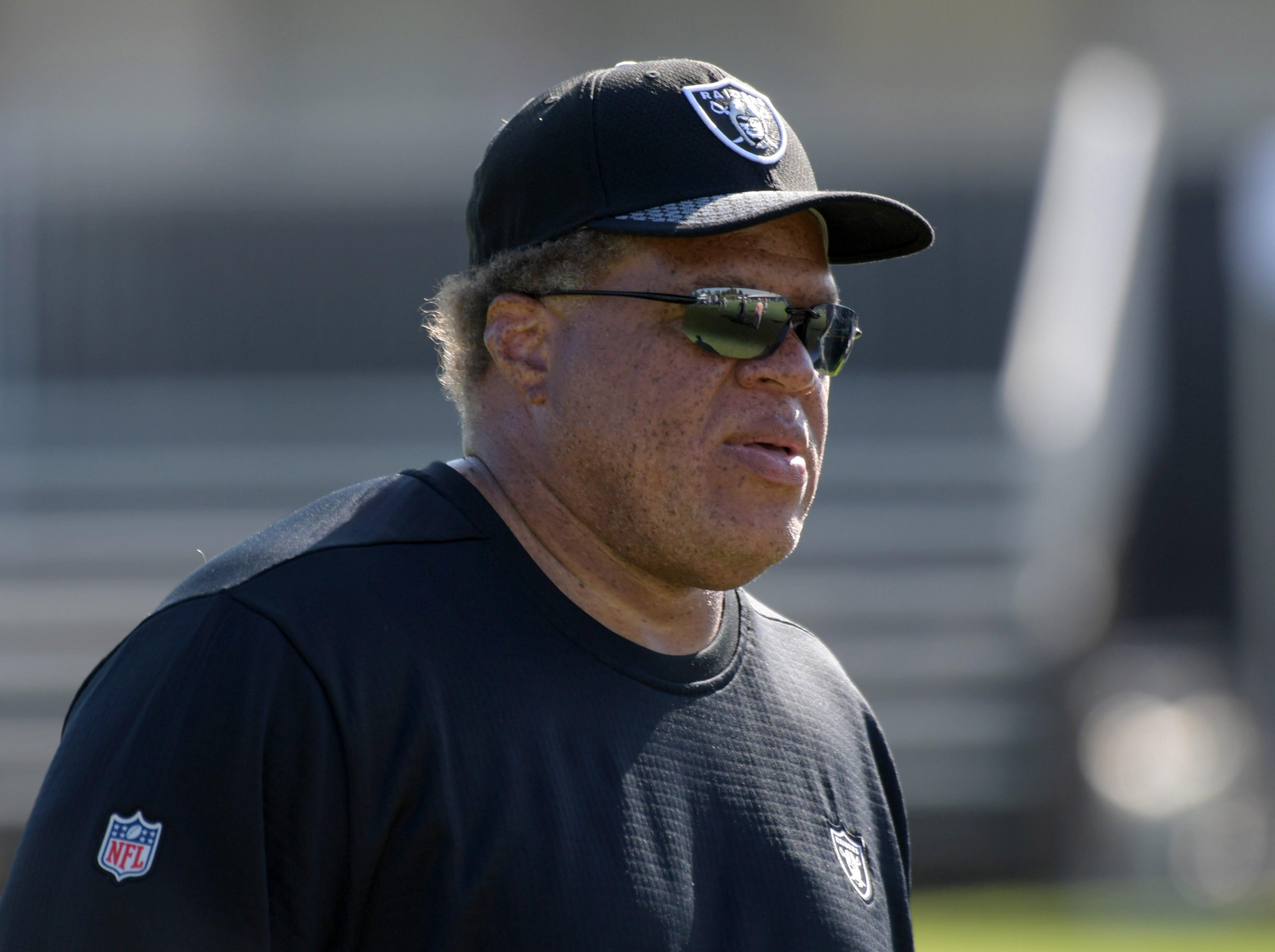 Oakland Raiders general manager Reggie McKenzie during training camp  at Napa Valley Marriott.