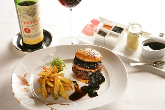 The Fleur Burger 5000 served at Fleur Restaurant located inside Mandalay Bay in Las Vegas.