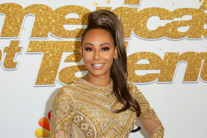 "Mel B on Sept. 18, 2018 at the ""America's Got Talent"" Season 13 Finale Show red carpet in Los Angeles."